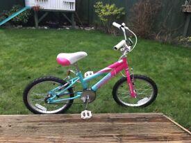 "Ammaco Misty 18"" BMX Girls Bike Pink & Blue Age 6-9"