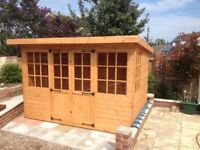 10FT x 8FT Fully T&G Summer House Pent Style - Fitted.