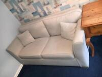 Pale blue pull out sofa bed