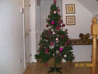 Christmas tree for sale 6ft with pink baubles