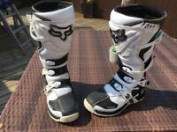 Fox motocross boots size 10