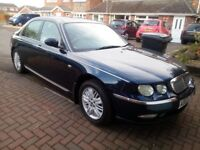 ROVER 75 CDT CLUB SE 2003 IN BLUE, FSH,LOW MILEAGE, VERY GOOD CONDITION FOR YEAR, BARGAIN!