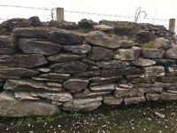 Wanted large stones for wall