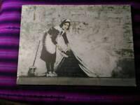 Banksy Large Wall Canvas Print