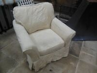 Sofa Workshop cream armchair with loose covers - grab a bargain!