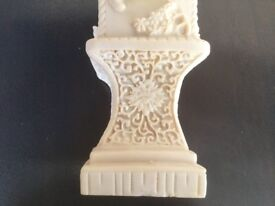 Chinese Hand Carved Vase with 4 sides; Each depicting its own individual Classic Chinese poem.