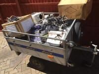 Trailer full of garage clear out DVD MP3 QED Sony Philips speakers
