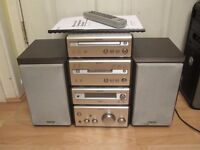 Complete Sony Mini-Disc micro Hi-Fi system & Kenwood P-100 turntable. CMT-SP55MD.