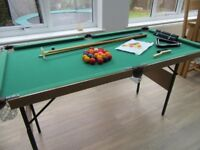 "Pool & Snooker Table 4'6"" with Accessories"