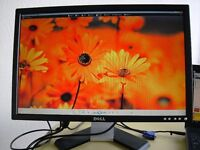 """DELL E228WFP 22"""" WIDESCREEN LCD MONITOR, TESTED, VGC, CABLES, WARRANTY"""