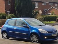 2008 RENAULT CLIO DYNAMIQUE(TURBO 100BHP) 1.2 PETROL 3 DOORS BLUE 84K SERVICE HISTORY GOOD RUNNER