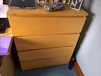 Ikea pine chest of draws