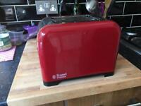 2 slice Russell Hobbs Toaster in Red