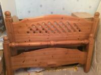 Solid Pine Double Bed