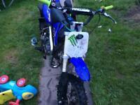 125cc m2r pitbike and 50cc mini moto