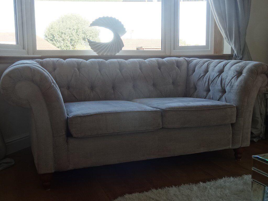 Velour Sofa gosford silver velour chesterfield style sofa settee 6