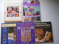 Collection of Five Cross Stitch Books