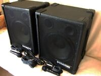 DYNAMIX COMPACT POWERED PA SYSTEM WITH MICROPHONES