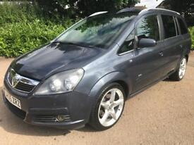Vauxhall Zafira 2.0 iTurbo / 7 Seats / 197 bhp / Long MOT