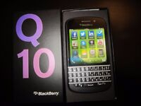 For Sale Blackberry Q10 Black Full Box Unused / Like New