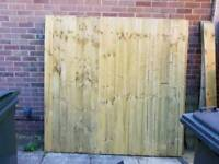 2 new feather board fence panels