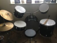 Boston 5 Piece Drum Kit - Perfect for Beginners