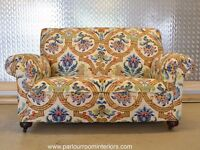 ANTIQUE TWO SEATER ART DECO SOFA - RECENTLY UPHOLSTERED