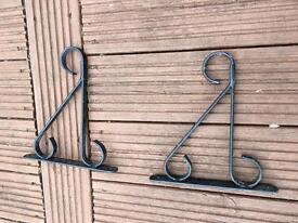 Hanging basket wall brackets