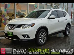 2015 Nissan Rogue SL AWD | Navi, Pano Moonroof, Leather Htd Seat