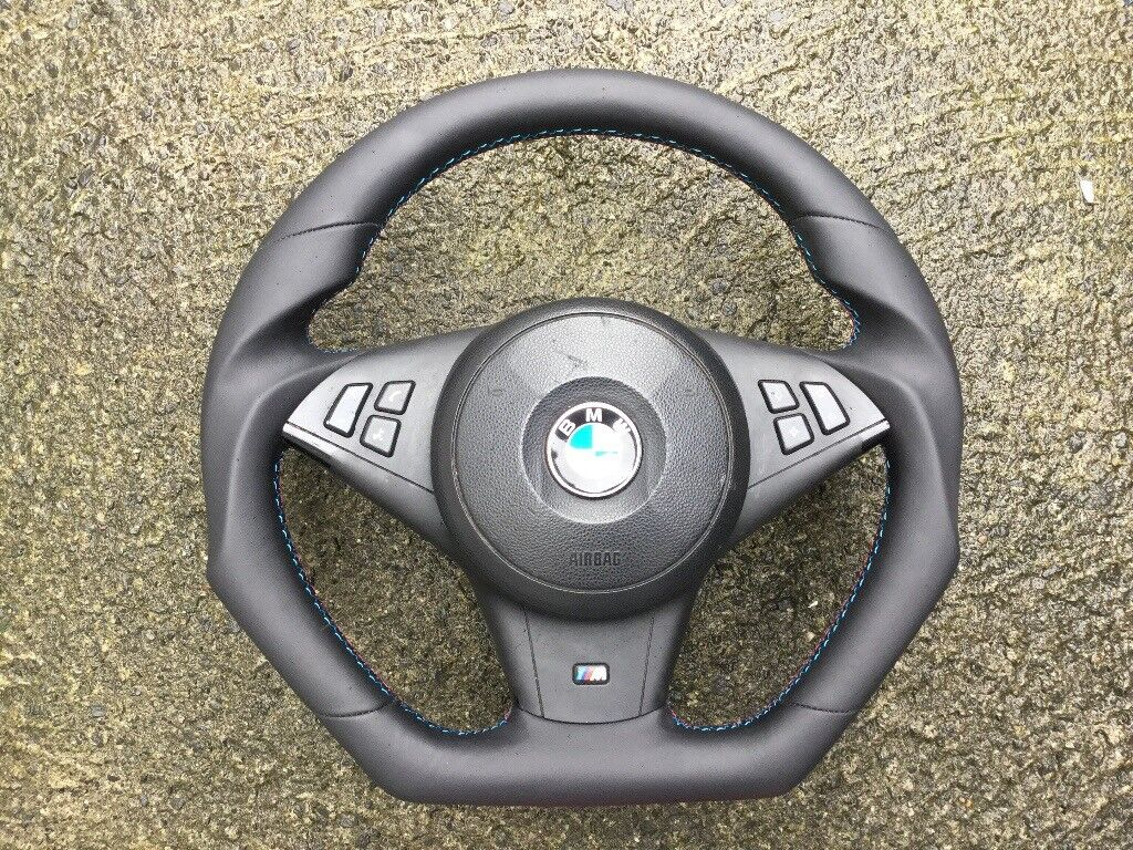 fb1efd5f31 BMW M5 M6 E60 E61 E63 E64 LCI NEW CUSTOM MADE FLAT BOTTOM STEERING WHEEL