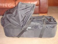 CAN POST EXC COND BABY JOGGER COMPACT CARRYCOT BASSINET FITS CITY MINI DOUBLE GT ELITE RRP £125