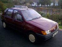 Ford fiesta MK3 12 MONTHS M.O.T 28,000 miles RARE model only 9 left CLASSIC CAR