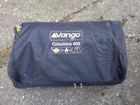 Vango Columbia 400 Family Tent sleeps 4 - 2 sleeping compartments