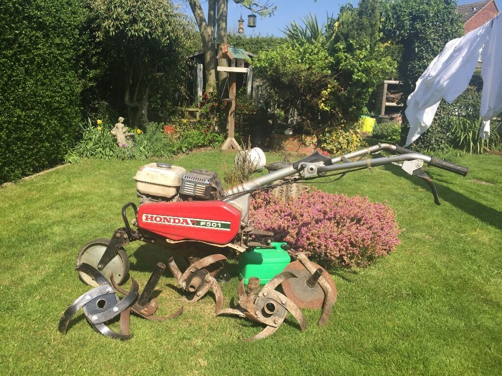 Honda f501 rotavator cultivator tiller in stapleford for Allotment tools for sale