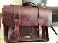Leather satchel by Dr Martens