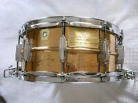 "Ludqwig 75th Anniversary seamless bronze Supersensitive snare drum 14 x 6 1/2""- USA - '84 -#23 Rare"