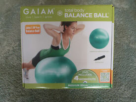 Balance Ball kit NEW GAIAM - Medium 65cm including DVD & pump