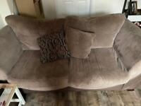 Two and three seater sofa.