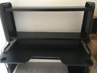 Large Black Office Desk