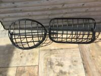 2 LARGE METAL ANTIQUE STYLE HAY RACK GARDEN PLANTERS * PROCEEDS GO TO CHARITY* CHAS RACHEL HOUSE