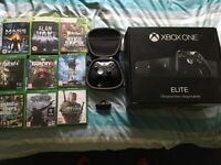 Xbox One Elite console + Games + Headset