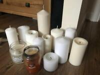 Large collection pillar candles & Yankee