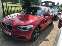 BMW 1 SERIES 2.0 120D SPORT 5d AUTO 181 BHP Apply for finance Online today! (red) 2014