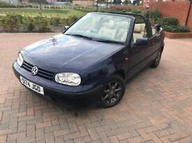 VOLKSWAGEN GOLF 1.6 AUTOMATIC CONVERTIBLE 2 LADY OWNERS FREE WARRANTY