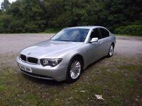 BMW 730 DIESEL 2005 (05) 12 month MOT, FULLY LOADED, sat nav, DVD players, bluetooth car phone etc