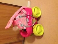 Pink wagon with toys!