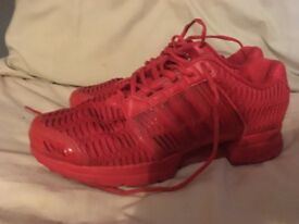 Adidas RED Clima Trainers Size 9