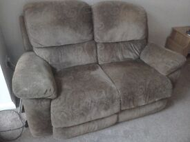 Electric recliner armchair & A manual 2 Seater Sofa