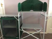 Gelert xp aluminium kitchen stand and cupboard