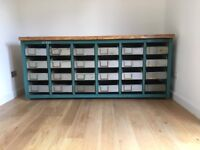 Vintage industrial factory chest of 24 drawers unit cabinet
